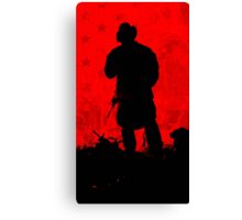 Red Flag Canvas Print