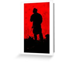 Red Flag Greeting Card