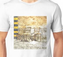 Three Chairs watercolor Unisex T-Shirt