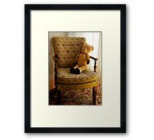 Old Teddy in his Old Chair Framed Print
