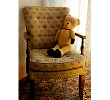Old Teddy in his Old Chair Photographic Print