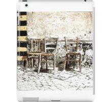 Three Chairs pencil sketch iPad Case/Skin