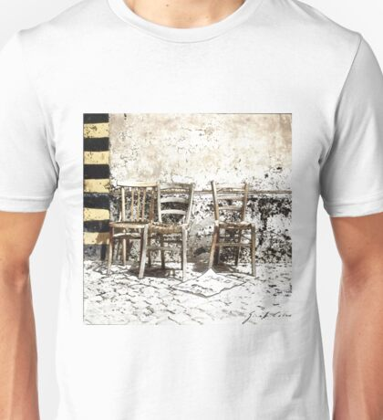Three Chairs pencil sketch Unisex T-Shirt