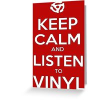 Listen to Vinyl White Greeting Card
