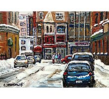 BEST AUTHENTIC ORIGINAL DOWNTOWN MONTREAL PAINTINGS RUE STANLEY CANADIAN ART Photographic Print