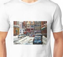 BEST AUTHENTIC ORIGINAL DOWNTOWN MONTREAL PAINTINGS RUE STANLEY CANADIAN ART Unisex T-Shirt