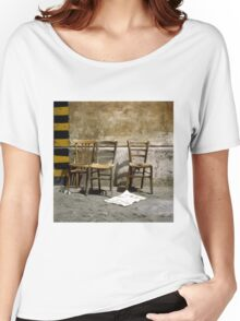 Three Chairs painting brush strokes Women's Relaxed Fit T-Shirt