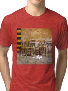 Three Chairs comics Tri-blend T-Shirt