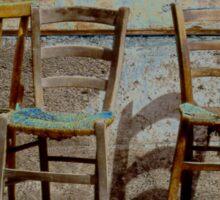 Three Chairs solarized Sticker