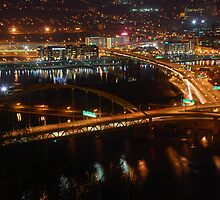 Pittsburgh's Fort Pitt and Fort Duquesne Bridges by PJS15204