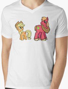apple jack and big mac Mens V-Neck T-Shirt