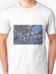 Plum blossom in the sky spring confirmation Unisex T-Shirt