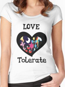 love and tolerate Women's Fitted Scoop T-Shirt