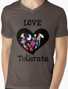 love and tolerate Mens V-Neck T-Shirt