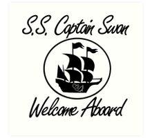 S.S. Captain Swan Art Print