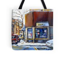 MONTREAL MEMORIES EXCEPTIONAL CANADA ART BEAUTY'S RESTAURANT RUE ST.URBAIN BEST MONTREAL ART Tote Bag