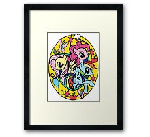 pinkie pie, fluttershy and rainbow dash Framed Print