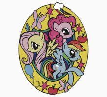 pinkie pie, fluttershy and rainbow dash by Malentis