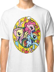 pinkie pie, fluttershy and rainbow dash Classic T-Shirt