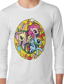 pinkie pie, fluttershy and rainbow dash Long Sleeve T-Shirt