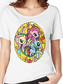 pinkie pie, fluttershy and rainbow dash Women's Relaxed Fit T-Shirt