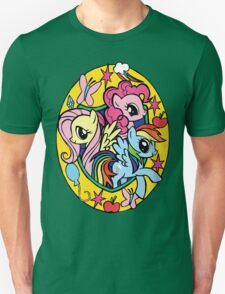 pinkie pie, fluttershy and rainbow dash T-Shirt