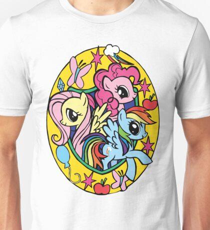 pinkie pie, fluttershy and rainbow dash Unisex T-Shirt