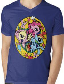 pinkie pie, fluttershy and rainbow dash Mens V-Neck T-Shirt