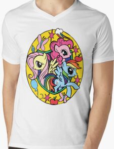pinkie pie, fluttershy and rainbow dash Mens V-Neck T-Shirt