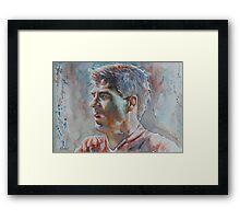 Steven Gerrard -  Portrait 1 Framed Print