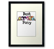 best pony Framed Print
