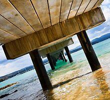 Navy Wharf, Twofold Bay  by Geraldine Lefoe