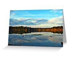 Opal Swirls, Hidden Pond Greeting Card