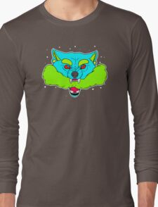 Psychedelic Smoke Wolf Long Sleeve T-Shirt