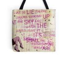 Looking Up At the Sky Tote Bag