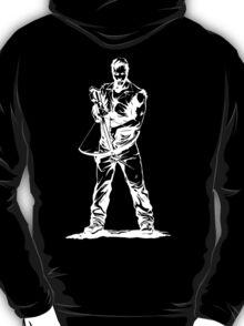 Daryl Dixon White Sketch on Black Background T-Shirt