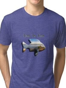 Time to Fish 2 - Design Art Tri-blend T-Shirt