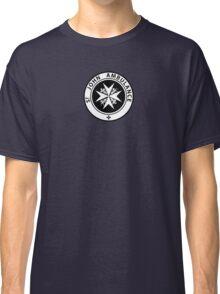 St. John logo on a Blue Box Classic T-Shirt