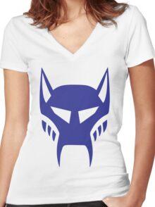 maximal logo Women's Fitted V-Neck T-Shirt