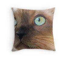Turquoise Eyes Throw Pillow