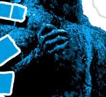 Godzilla Blue Sticker