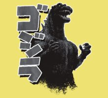 Godzilla Black and White Kids Clothes