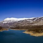 Mornos Lake, Fokida, Greece by airphoto-gr