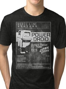 Power Droid Owners Manual Tri-blend T-Shirt