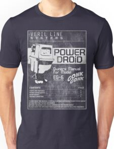 Power Droid Owners Manual Unisex T-Shirt