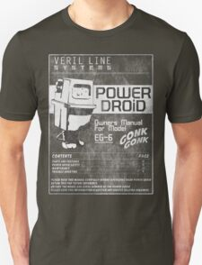 Power Droid Owners Manual T-Shirt