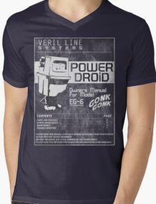 Power Droid Owners Manual Mens V-Neck T-Shirt
