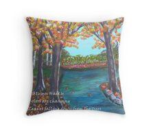 Autumn Haiku Throw Pillow