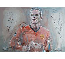 Wayne Rooney - Portrait 1 Photographic Print