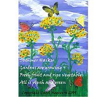 Summer Haiku Photographic Print
